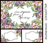 romantic wedding invitation... | Shutterstock .eps vector #1241637769
