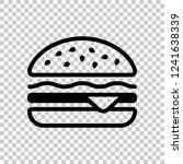 hamburger icon. fast food....   Shutterstock .eps vector #1241638339