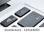 close up of part of laptop... | Shutterstock . vector #124164004