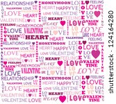 love word collage on white... | Shutterstock .eps vector #124164280