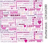 love word collage on white...   Shutterstock .eps vector #124164280