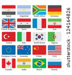 flags set | Shutterstock .eps vector #124164826