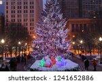 beautiful winter night in... | Shutterstock . vector #1241652886