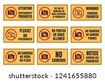 no photo sign  photography... | Shutterstock .eps vector #1241655880