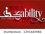 world disability day typography.... | Shutterstock .eps vector #1241665486