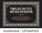 vector template flyer ... | Shutterstock .eps vector #1241669323