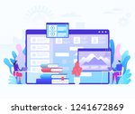 modern education and virtual... | Shutterstock .eps vector #1241672869