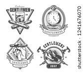 vintage monochrome gentleman... | Shutterstock .eps vector #1241676070