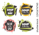 soup of the day. food concept... | Shutterstock .eps vector #1241676760