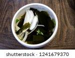 cold seaweed soup  miyeok... | Shutterstock . vector #1241679370