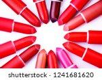Many Lipsticks On White...
