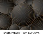 black bronze circles abstract...   Shutterstock .eps vector #1241692096