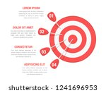 target with four arrows with... | Shutterstock .eps vector #1241696953