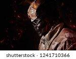 military skeleton soldier in... | Shutterstock . vector #1241710366