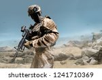profile view military fully... | Shutterstock . vector #1241710369