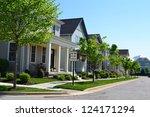 suburban neighborhood of new... | Shutterstock . vector #124171294