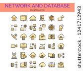 network and database icons set. ...