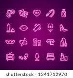 sex shop signs neon thin line... | Shutterstock .eps vector #1241712970