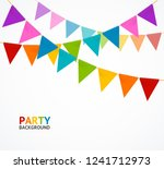 party concept banner card with... | Shutterstock .eps vector #1241712973
