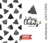 christmas greeting card in... | Shutterstock .eps vector #1241713543