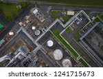 top view of industrial at oil... | Shutterstock . vector #1241715673