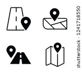 navigation icon. eps 10 vector | Shutterstock .eps vector #1241718550