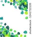 aquamarine tropical jungle... | Shutterstock .eps vector #1241722120