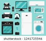 set of home appliances. various ... | Shutterstock .eps vector #1241725546