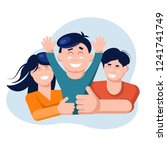 family concept. mother and... | Shutterstock .eps vector #1241741749
