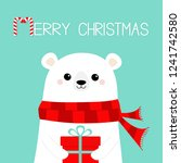 merry christmas. polar white... | Shutterstock .eps vector #1241742580