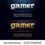 metal font elegant silver and... | Shutterstock .eps vector #1241746540