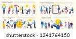 set of vector concept... | Shutterstock .eps vector #1241764150