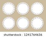 set of vintage lace doilies ... | Shutterstock .eps vector #1241764636