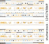 hand drawn stripe seamless with ... | Shutterstock .eps vector #1241765869
