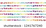 vector illustration of rainbow... | Shutterstock .eps vector #1241767240