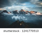dramatic view of high ridge.... | Shutterstock . vector #1241770513