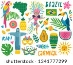 set of brazilian carnival icons ... | Shutterstock .eps vector #1241777299