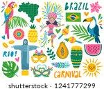 set of brazilian carnival icons ... | Shutterstock .eps vector #1241777299