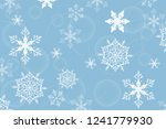 holiday greeting with snowflake ... | Shutterstock .eps vector #1241779930
