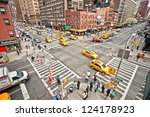 new york   march 21  taxicabs... | Shutterstock . vector #124178923