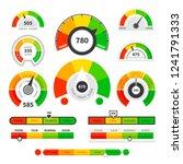 credit score indicators.... | Shutterstock .eps vector #1241791333