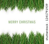 merry christmas with realistic... | Shutterstock .eps vector #1241791939