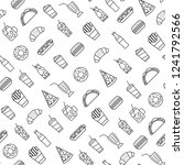 seamless pattern with fast food ...   Shutterstock .eps vector #1241792566