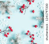 christmas or winter composition....   Shutterstock . vector #1241797330