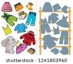 logic tasks for preschool...   Shutterstock .eps vector #1241803960