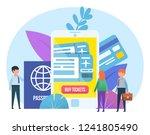 mobile app for purchasing... | Shutterstock .eps vector #1241805490