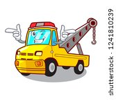 wink truck tow the vehicle with ... | Shutterstock .eps vector #1241810239