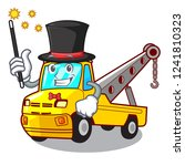 magician tow truck for vehicle... | Shutterstock .eps vector #1241810323