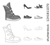 a set of icons on a variety of... | Shutterstock . vector #1241811070