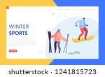 ski resort winter holidays... | Shutterstock .eps vector #1241815723